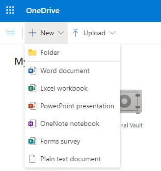 click on new and select folder to create a new folder