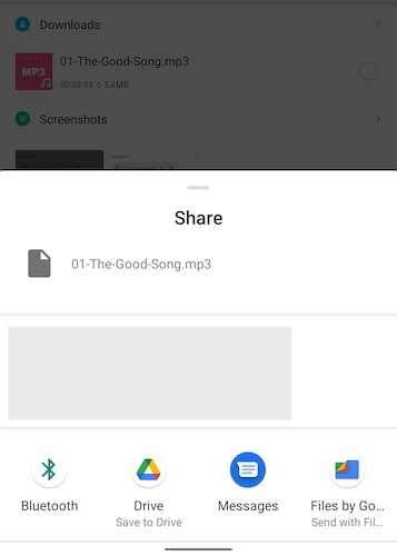 Save to Drive option in Android
