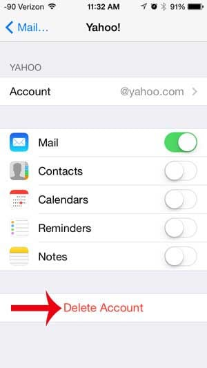 yahoo mail not working on iphone