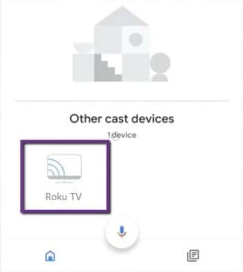 select your roku device
