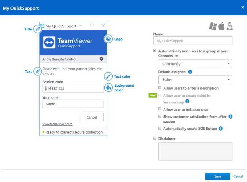 teamviewer quicksupport interface