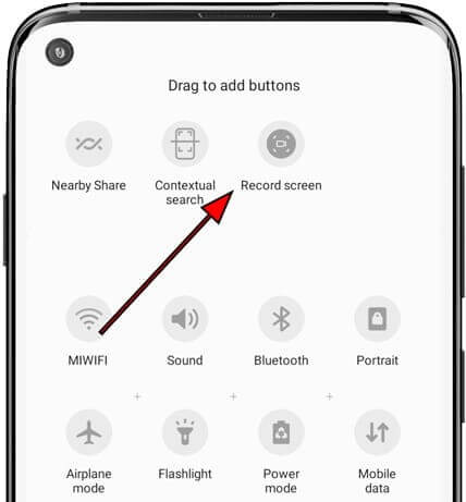 drag and adjust screen recorder icon