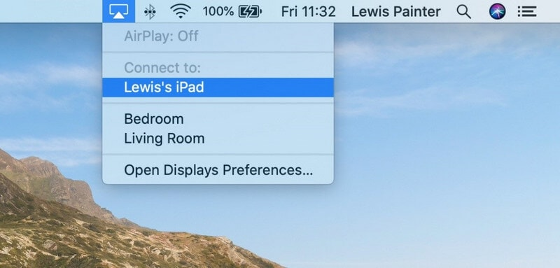 select your ipad device