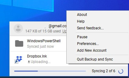 stop google drive sync 1