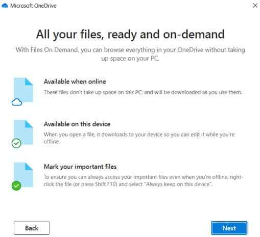 decide on the availability of files