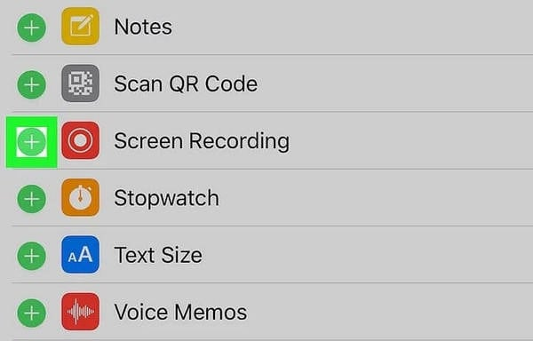 add screen recording to control center