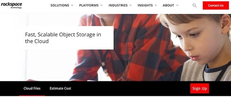 Rackspace Cloud Files home page