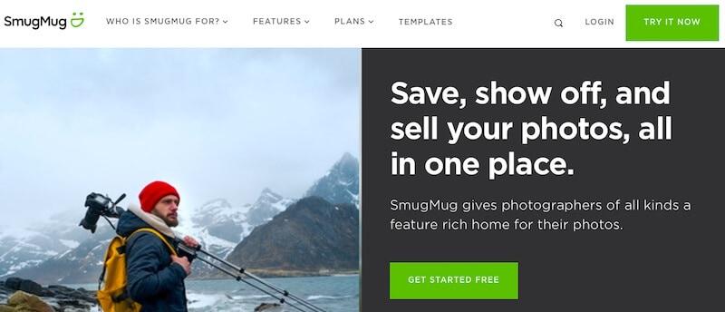 SmugMug web page