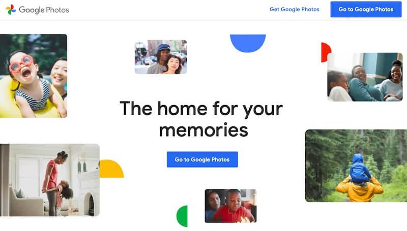 Google Photos home page