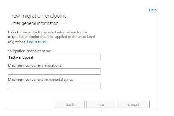 creating migration endpoint in exchange admin center