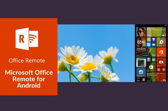 control powerpoint from android with Microsoft's office remote