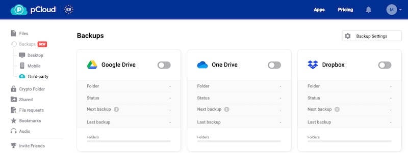 Transfer Dropbox to pCloud officially