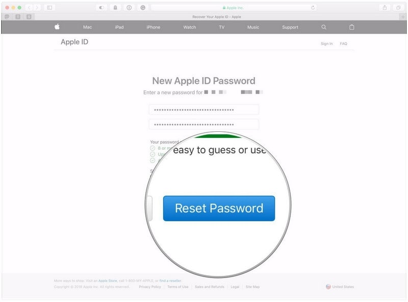 find my apple id and password