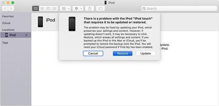 ipod est désactivé connectez-vous à itunes