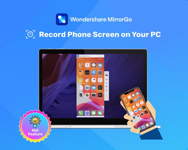 record phone screen with mirrorgo