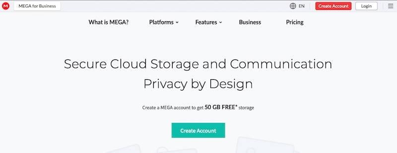 Mega home page