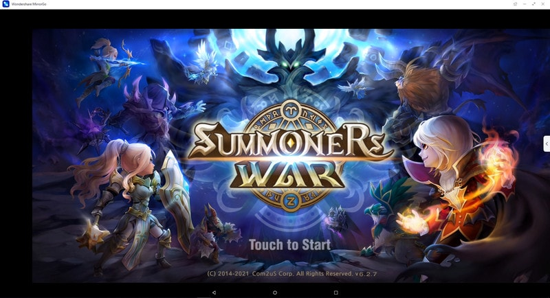 play Summoners War on pc using mirrorgo