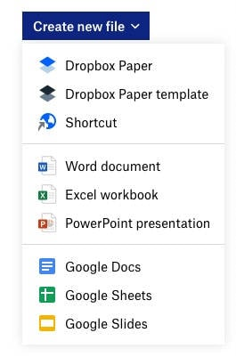 Dropbox allows document collaboration