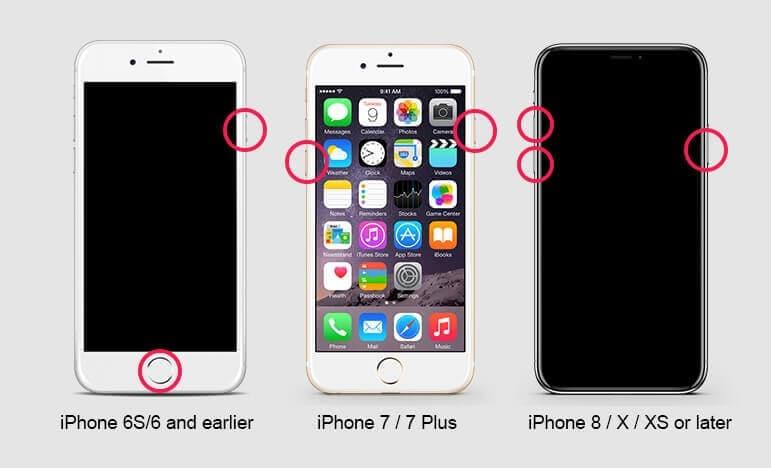 reboot iPhone