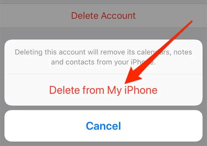 """click on """"Delete from My iPhone"""""""