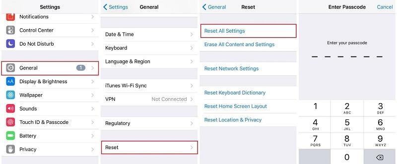 "reset all settings"""