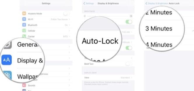 checking auto lock settings