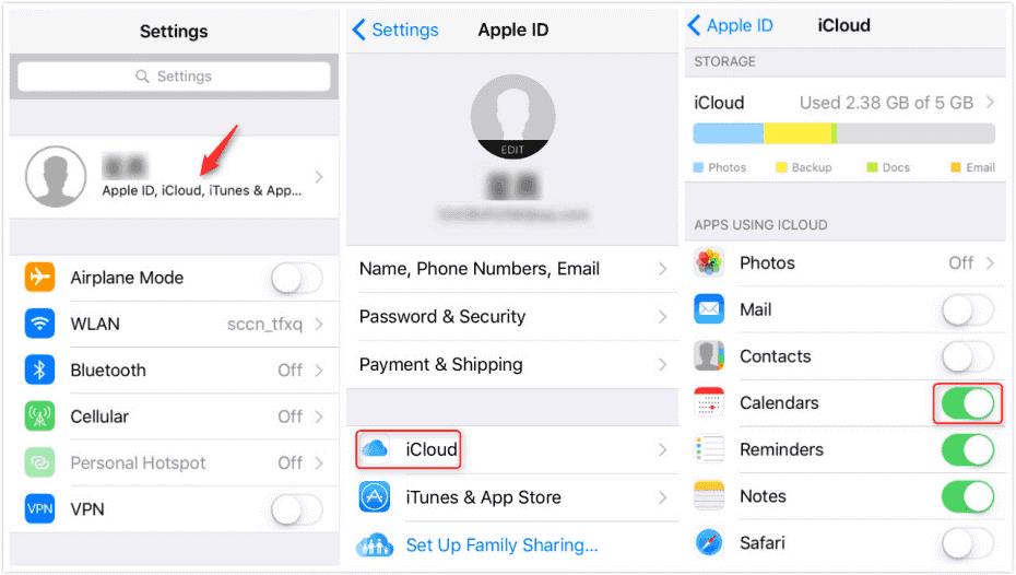 Check iCloud storage