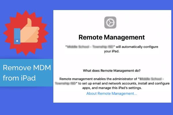 remove ipad mdm