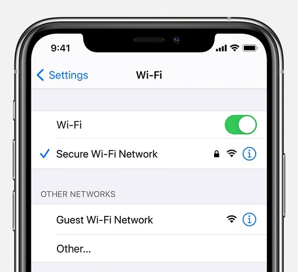 check your wifi