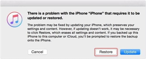 restore iphone successfully from itunes
