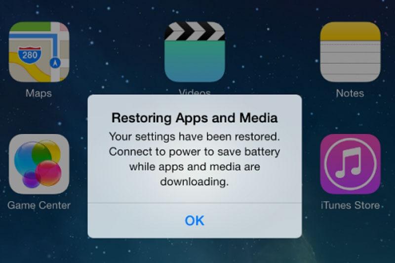 data restored in iPhone 13
