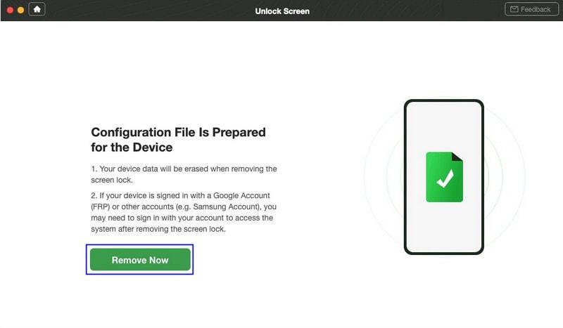 prepare a configuration file