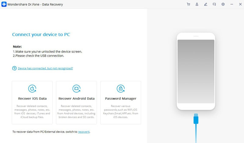 recover with dr.fone data recovery