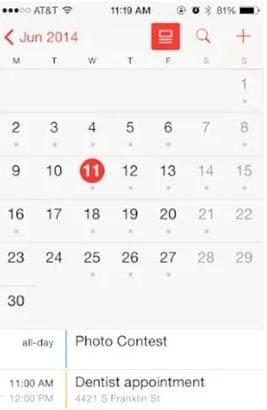 select event on calendarr