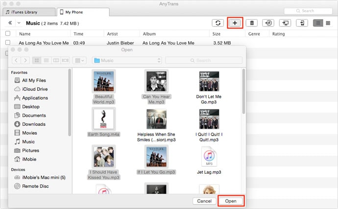 Transfer Music to iPhone from PC with AnyTrans-2