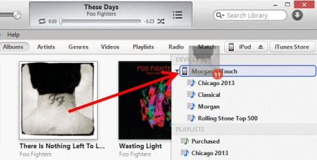 transfer music from iPhone to iPod - using iTunes