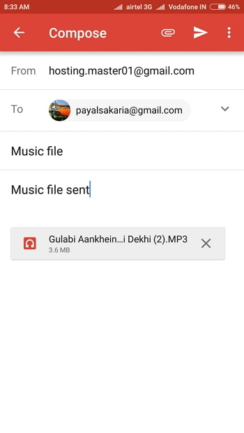 Transfer Music from Phone to Computer with Email