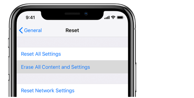 reset your iphone