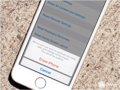 how to erase iphone data