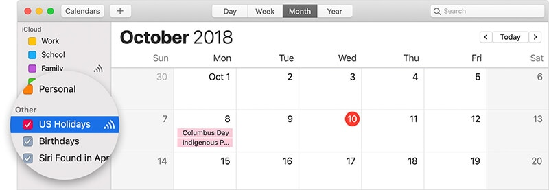 remove a subscribed calendar from mac