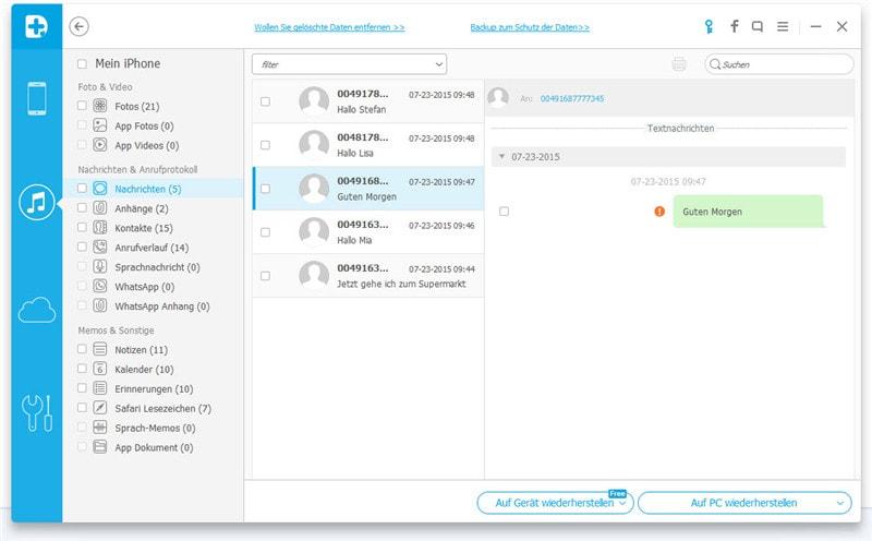 iPhone - Datenrettung aus Backup