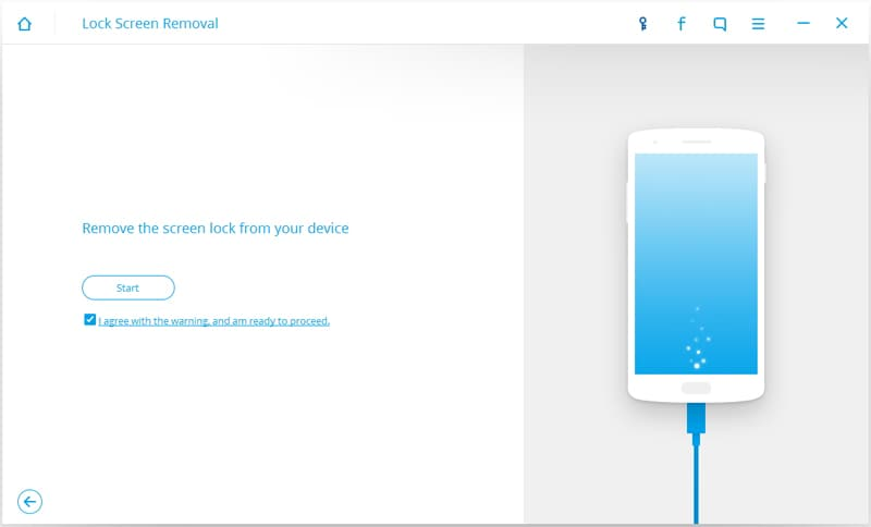 start to unlock android password