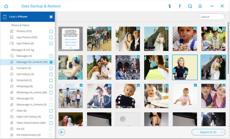 save pictures from imessages to pc