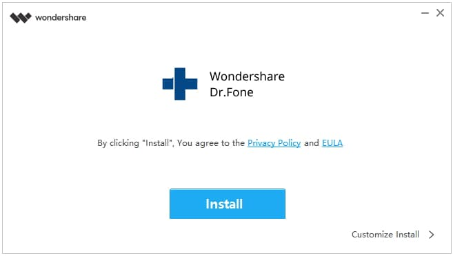 install Dr.Fone on windows