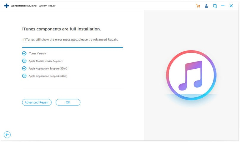 fix itunes in advanced mode