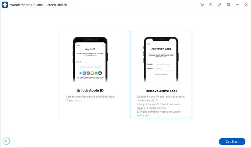 tap on remove activation lock