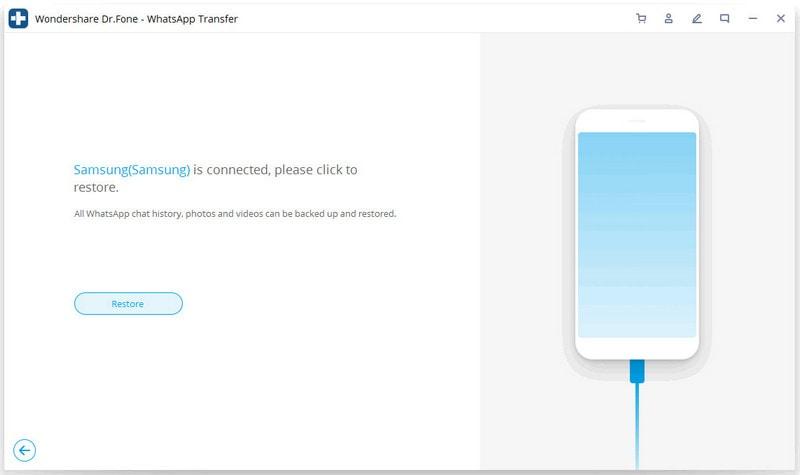 iOS whatsapp auf Android-Gerät wiederherstellen 2