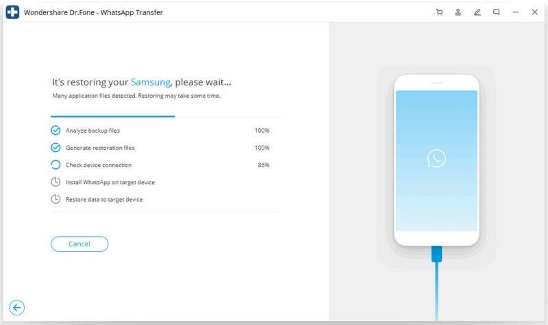 iOS Whatsapp auf Android-Gerät wiederherstellen 3