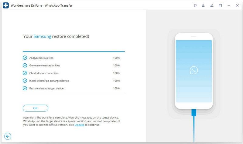 iOS Whatsapp auf Android-Gerät wiederherstellen 5