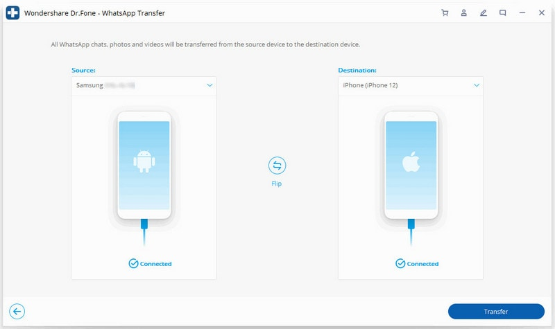 transfer whatsapp from android to iPhone 1